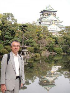 大阪城と池と江上